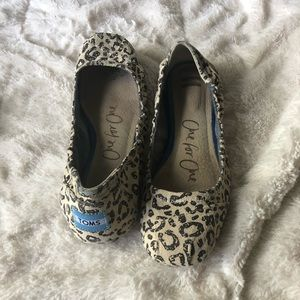 TOMS Ballet Flats Leopard print One for One